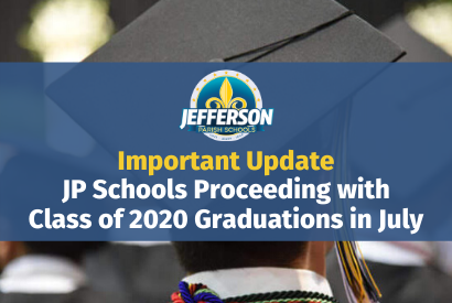 JP Schools Proceeding with Class of 2020 Graduations in July